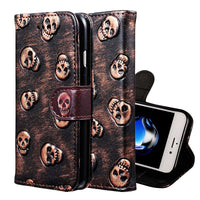 iPhone 7 7 Plus Wallet PU Leather Cover Card Holder Stand