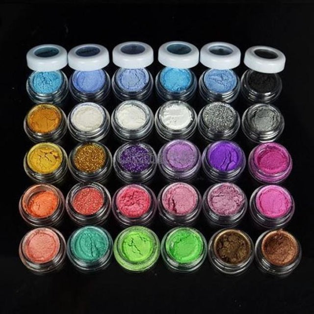 30 Colors Mineral Eyeshadow Pigment Glitter