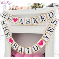 3M Engaged Just Married Paper Banner Garlands