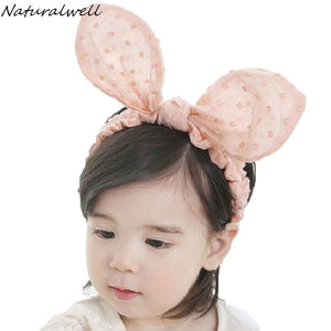 Girls Rabbit Ears Elastic Headband