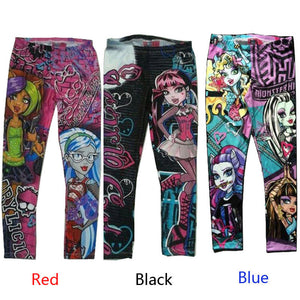 Monster High Printed Girls Leggings