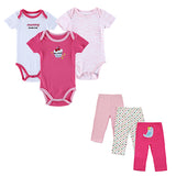 6 Pcs/lot 2017 Toddler Baby Clothing Sets Romper + Pants 9 Styles