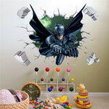 3D Batman or Spider-Man Wall Sticker