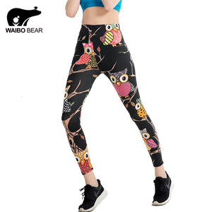 Womens Cartoon 3d Print Leggings One Size