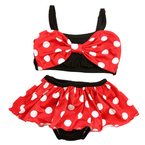 80-120cm Baby Girls Swimwear Polka Dot Two Piece