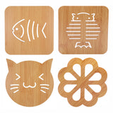 1pcs Wooden Carved Coasters