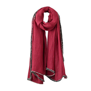 Women Scarves Woolen Long Large Solid 4 Colors Wrap Scarves & Shawls