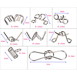 8PCS/Set Metal Wire Puzzle Brain Teaser