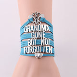 Grandma Gone But Not Forgotten Butterfly Heart Charm Bracelet