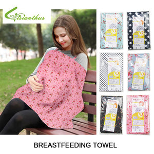 6 Color Cotton Breastfeeding Nursing Covers Flower Printed