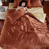 15 Colors Silk bedding Duvet Cover, Bedsheet, Pillows Full Queen King size