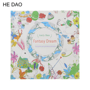 24 Pages Fantasy Dream Colouring Book