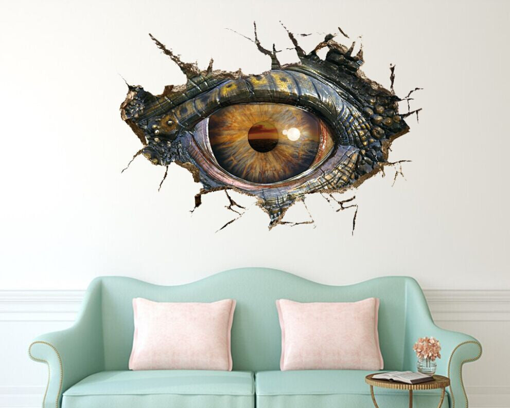 Big Dinosaur Eye 3D Wall Stickers Removable