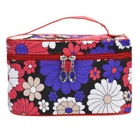 Women's Square Sunflower Makeup Case