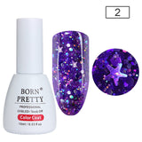 BORN PRETTY Holographic Sequins Nail Polish 10ml Bling Star Moon Glitter UV Gel Polish
