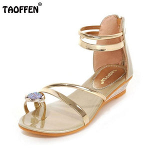 Ladies Flat Bohemia Rhinestone Sandals