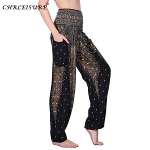 Bohemian High Waist Boho Printed Trousers One Size