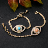 Crystal Eye Charm Bracelets