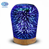 100ml 3D Light Essential Oil Diffuser Ultra-quiet Ultrasonic Humidifier