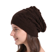 Winter Knitted Wool Beanie Baggy Warm