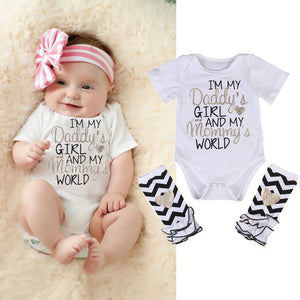 Girls I'm My Daddy Girl Romper + Leg Warmers
