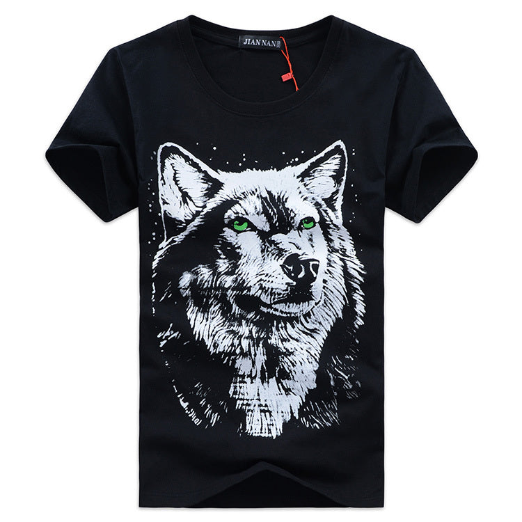 Men's Wolf Short Sleeve T-Shirt Larger Sizes Available