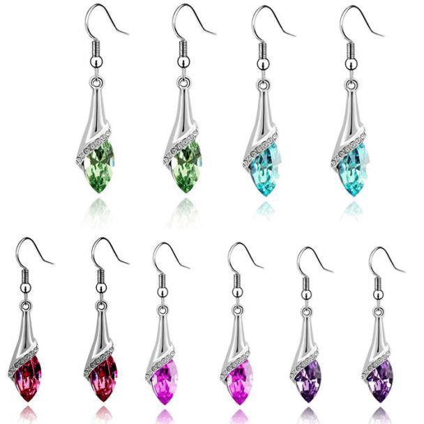 Crystal Marquise Cut Teardrop Earrings