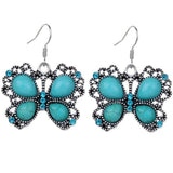 Butterfly Turquoise Earrings