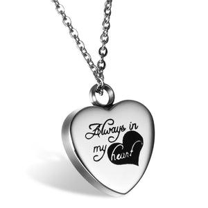 Always in My Heart Stainless Steel Necklace Pendant Memory Locket
