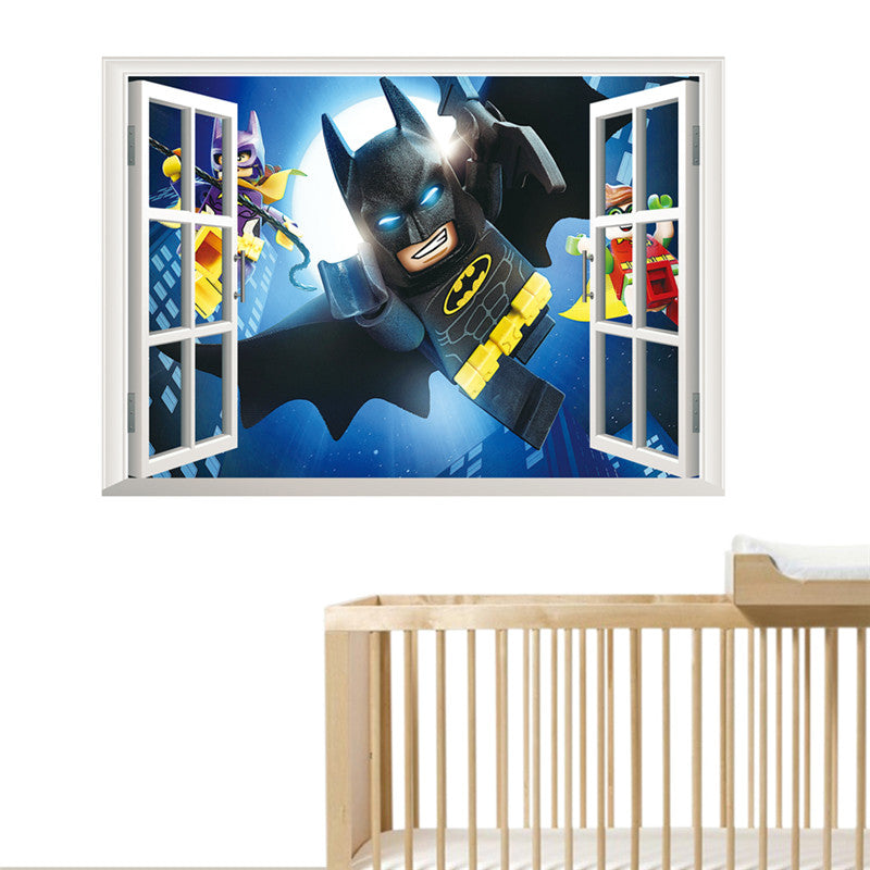 3d batman wall sticker removable | northern sun boutique