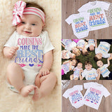 Baby Boy Girls Cousins Are The Best Friends Matching Clothes 0-7Y