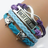 Infinity Best Friend Multilayer Leather Bracelet