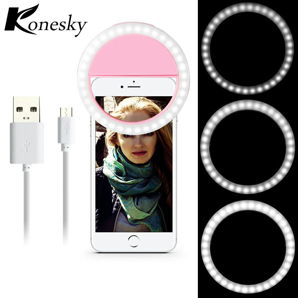 Selfie Ring Light Portable Flash 36 LED for All Smartphones 6 plus 6s