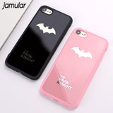 Batman Silicone Soft Phone Case For iPhone 6S 8 7 Plus Rubber Phone Cover For iPhone 7 8 Plus 6 6S Mirror Cases Shell