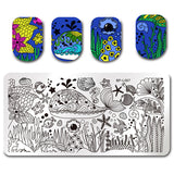 BORNNail Stamping Template 8 Patterns
