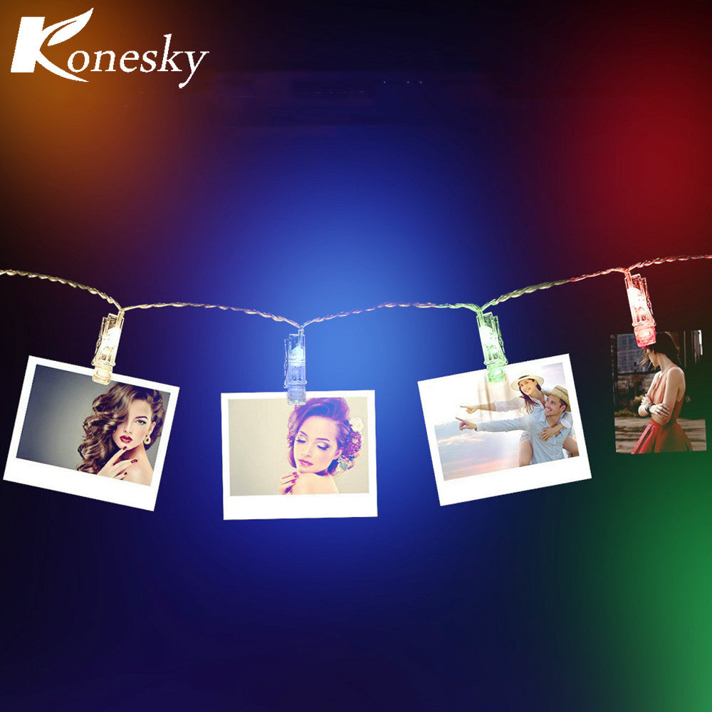 Garland LED String Lights Battery Card Photo Clip