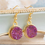 "Handmade Resin Drusy Earrings 34mm(1 3/8"") x 15mm( 5/8""), 1 Pair"