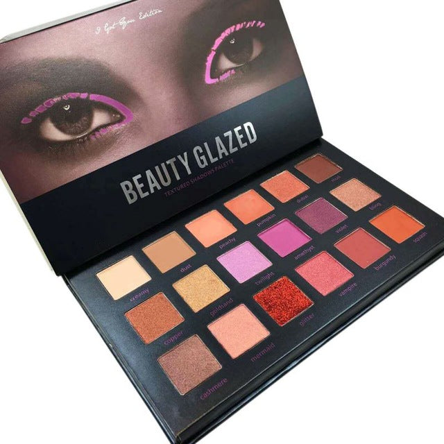 18 Color Eyeshadow Palette Shimmer Matte Glitter Eye Shadow