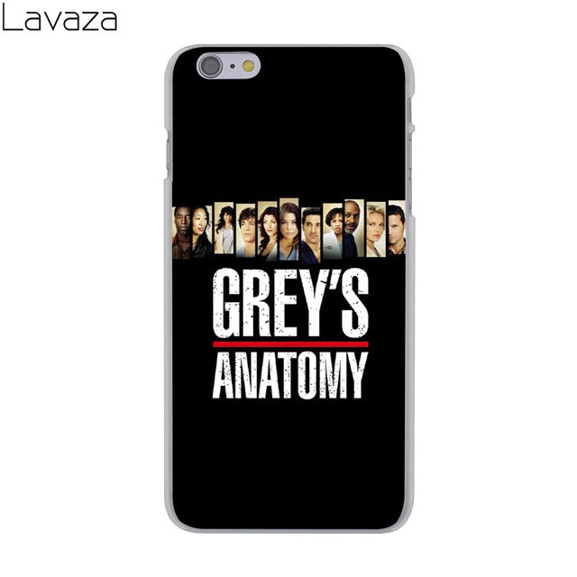 Greys Anatomy Phone Case for Apple iPhone 8 7 6 6S Plus 5 5S SE 5C 4 4S X 10 Coque Shell