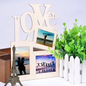 Hollow Love Wooden Picture Frame