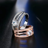 Austrian Crystal Rose Gold Ring