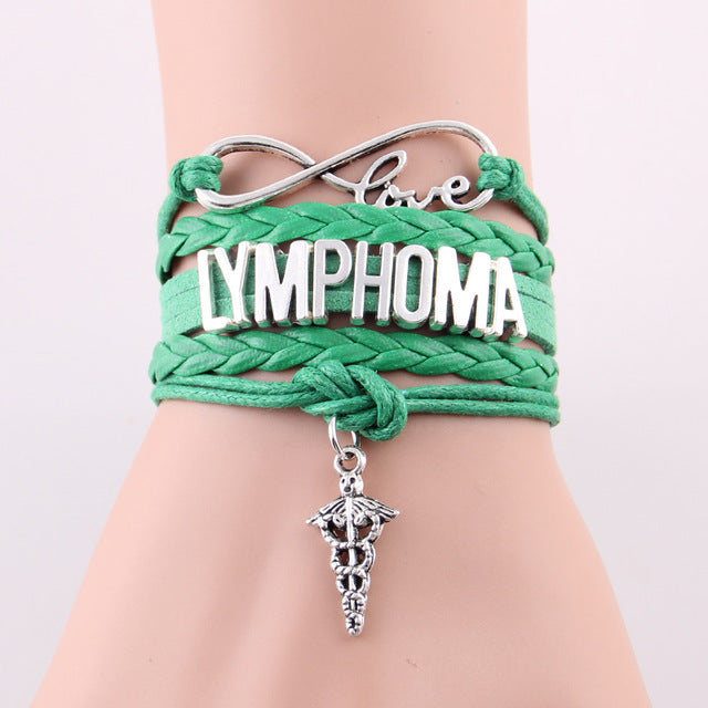 Infinity Love Charm Lymphoma Awareness Bracelet