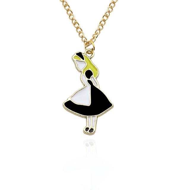 Alice In Wonderland Charm Pendants Necklace