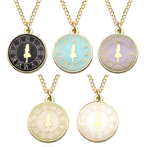 Alice in Wonderland Clock Necklace