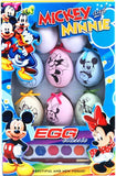 Cartoon Egg Arts and Crafts Kids DIY Painting Toy 3 Designs