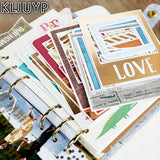 30Pcs Acid Free Colorful Frames Paper Pocket Cards for Scrapbooking DIY Photo Album