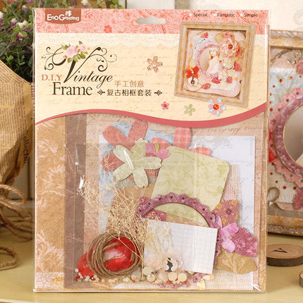 DIY Vintage Photo Album with Accessories and Paper Frames Craft Kit ...