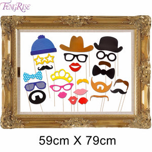 24 Pieces Funny Photo Booth Props Picture Frame