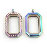 Rainbow 316L Memory Locket Pendant