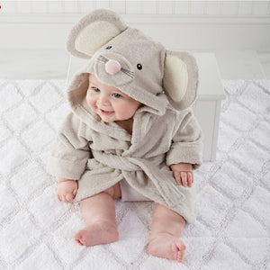 Animal Design Hooded Bath Towel